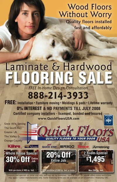 Quick Floors USA - Print Advertising | Tailor-Made Advertising