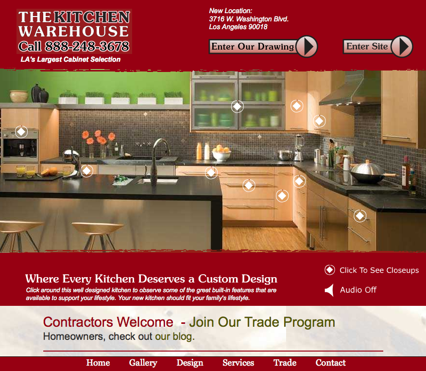 The Kitchen Warehouse Website